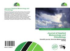 Journal of Applied Meteorology and Climatology kitap kapağı