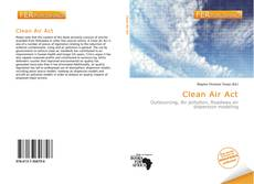 Bookcover of Clean Air Act