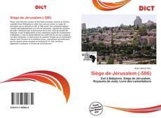 Capa do livro de Siège de Jérusalem (-586)