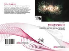 Borítókép a  Heinz Berggruen - hoz