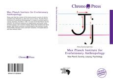 Bookcover of Max Planck Institute for Evolutionary Anthropology