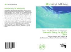 Leonard Percy de Wolfe Tilley kitap kapağı
