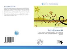 Buchcover von Erich Klossowski