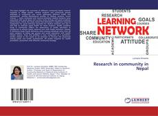 Research in community in Nepal kitap kapağı