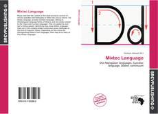 Copertina di Mixtec Language