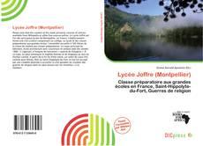 Capa do livro de Lycée Joffre (Montpellier)