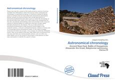 Bookcover of Astronomical chronology