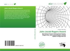 Bookcover of John Jacob Rogers Award