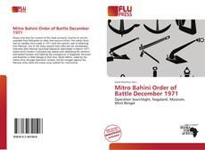 Mitro Bahini Order of Battle December 1971的封面