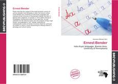 Ernest Bender的封面