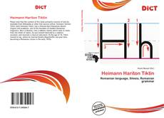 Portada del libro de Heimann Hariton Tiktin