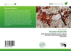 Обложка Boulder Batholith
