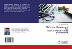 Couverture de Marketing Management For Make in India Business Environment