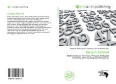Buchcover von Joseph Petzval