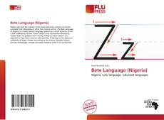 Bookcover of Bete Language (Nigeria)