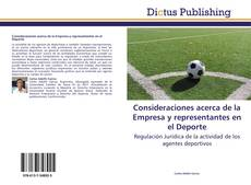 Bookcover of Consideraciones acerca de la Empresa y representantes en el Deporte
