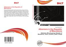 Bookcover of Albanians in the Republic of Macedonia