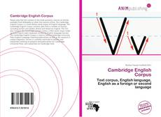Обложка Cambridge English Corpus