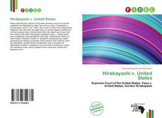 Bookcover of Hirabayashi v. United States