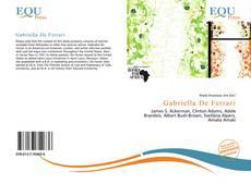 Capa do livro de Gabriella De Ferrari