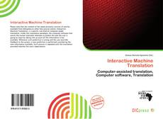 Buchcover von Interactive Machine Translation