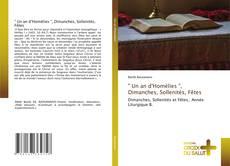 """Portada del libro de """" Un an d'Homélies """", Dimanches, Sollenités, Fêtes"""