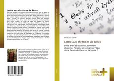 Couverture de Lettre aux chrétiens de Bérée