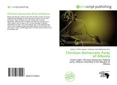Bookcover of Christian Democratic Party of Albania