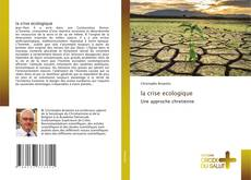 Bookcover of la crise ecologique