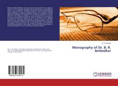 Capa do livro de Monography of Dr. B. R. Ambedkar