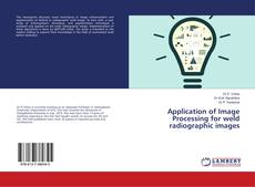Capa do livro de Application of Image Processing for weld radiographic images