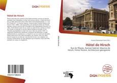 Capa do livro de Hôtel de Hirsch