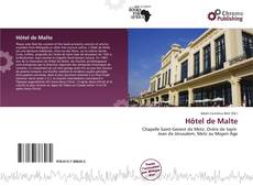 Bookcover of Hôtel de Malte