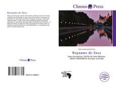 Capa do livro de Royaume de Saxe