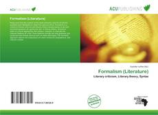 Bookcover of Formalism (Literature)