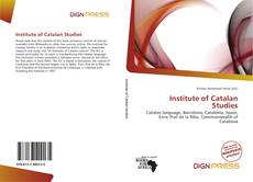 Portada del libro de Institute of Catalan Studies