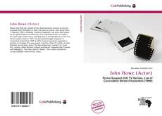 John Bowe (Actor)的封面