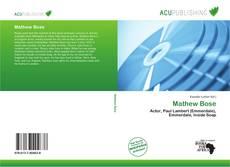 Buchcover von Mathew Bose