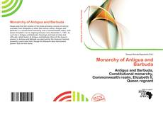 Copertina di Monarchy of Antigua and Barbuda