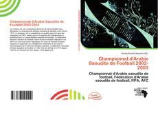 Championnat d'Arabie Saoudite de Football 2002-2003 kitap kapağı