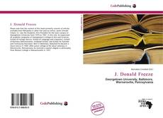 Bookcover of J. Donald Freeze