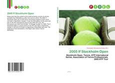 Bookcover of 2005 If Stockholm Open