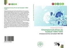 Bookcover of Championnat d'Iran de football 1994-1995