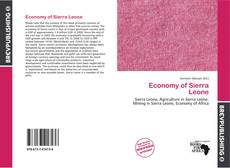 Bookcover of Economy of Sierra Leone