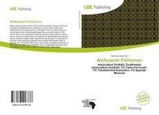 Capa do livro de Aleksandr Filimonov