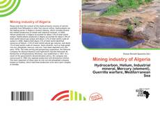 Capa do livro de Mining industry of Algeria