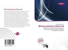 Bookcover of Mining industry of Burundi