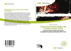 Bookcover of Championnat du Qatar de Football 2002-2003
