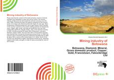 Bookcover of Mining industry of Botswana
