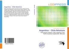 Capa do livro de Argentina – Chile Relations